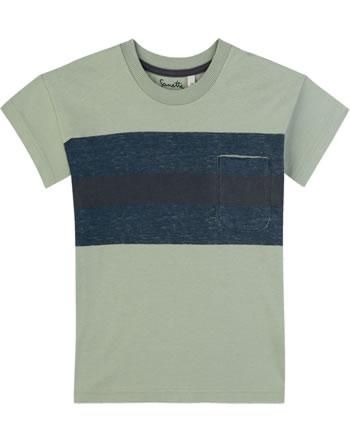 Sanetta Pure T-Shirt Kurzarm TASCHE powder green 10059-40000 GOTS