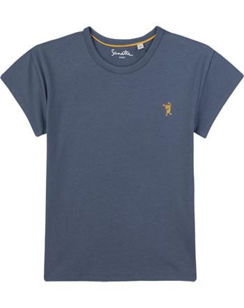 Sanetta Pure T-Shirt Kurzarm UNI bleu 10078-50312 GOTS