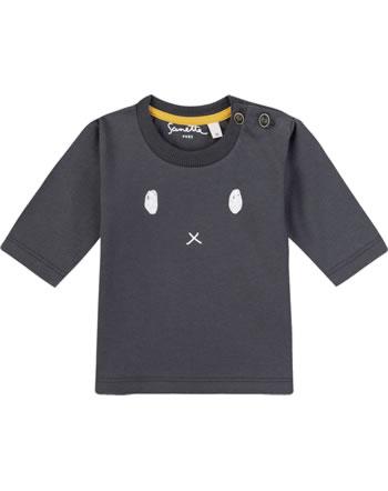 Sanetta Pure T-Shirt Langarm GESICHT seal grey 10037-1918 GOTS