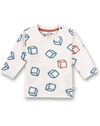 Sanetta Pure t-shirt long sleeve dice pattern white whisper 10290-18010 GOTS