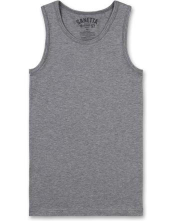 Sanetta Unterhemd ärmellos elite grey mel. 344686-1914