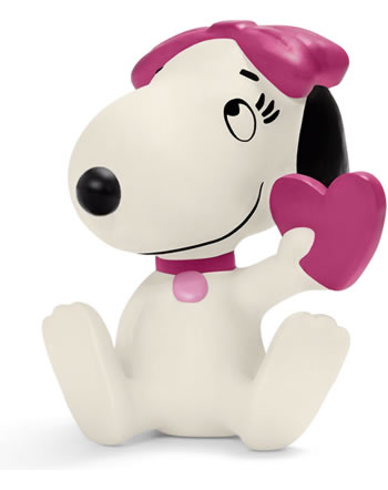 Schleich Peanuts Belle holding a heart 22030