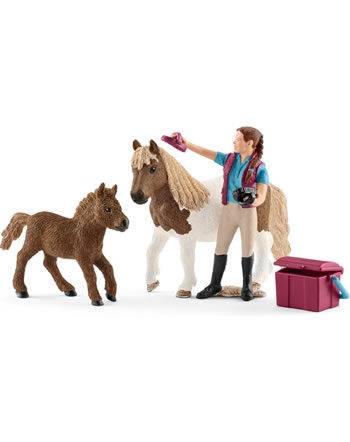 Schleich horsewoman with  shetties 42362