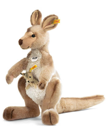 Steiff pelushe kangourou Kango avec bébé 40 cm 064623