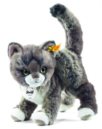 Steiff peluche chat Kitty gris/beige debout 25 cm 099335