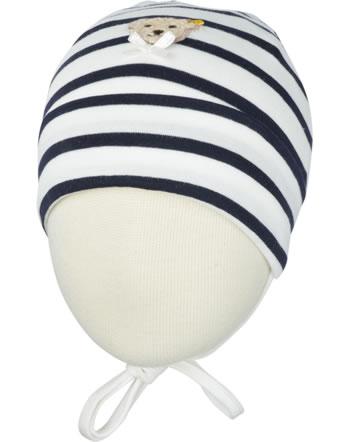 Steiff Jersey-Mütze NAVY BLUE GIRLS stripe 6723140-0001