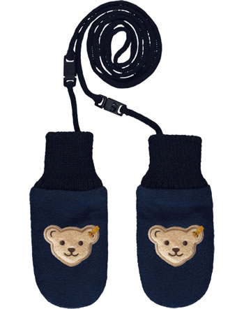 Steiff Baby Gloves BEAR TO SCHOOL steiff navy 2021336-3032