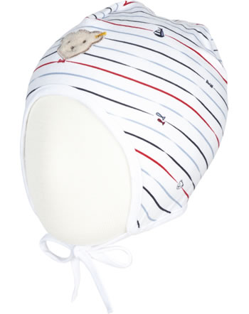 Steiff Hat BEAR CREW stripes bright white 2012118-1000