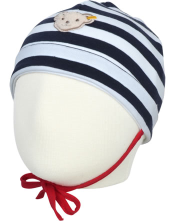 Steiff Baby-Mütze m.Bindeband BEAR TO SCHOOL steiff navy 2021334-3032