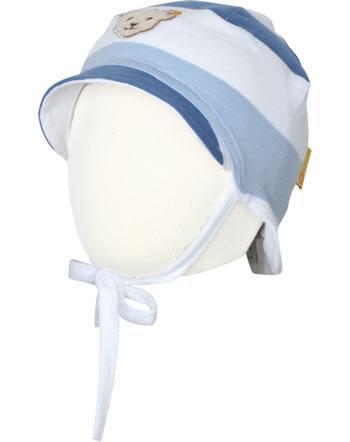 Steiff Baby-Mütze m.Bindeband HELLO SUMMER Baby Boys coronet blue 2113320-6048