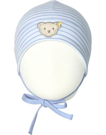 Steiff Baby-Mütze m.Bindeband HELLO SUMMER Baby Girls brunnera blue 2113421-6043