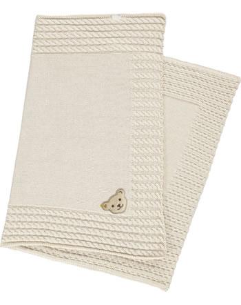 Steiff Knitted Blanket BEAR HUGS sandshell 2022621-1005