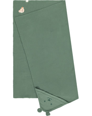 Steiff Baby Blanket ORGANIC LUCKY CHARM sagebrush 2122621-5024