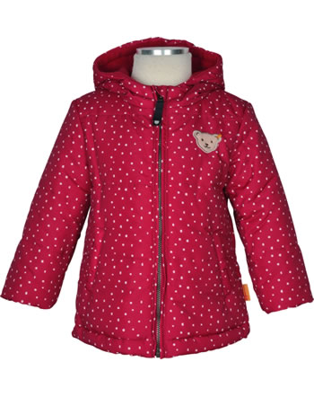 Steiff Baby Winter-Jacket with hood OUTDOOR tango red 1923810-4008