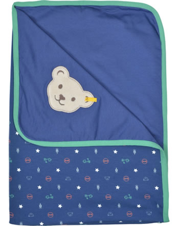 Steiff Babydecke Jersey HIGH FIVE deep cobalt 2111327-6062