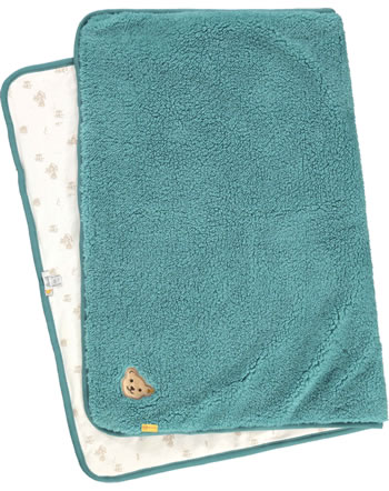 Steiff Blanket FOREST FRIENDS Baby Boys adriatic blue 2023309-6045