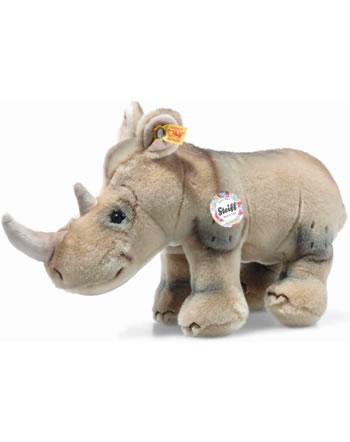 Steiff Back in Time Rhinocéros Nasilie 28 cm gris beige debout 085529