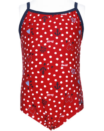 Steiff Swimsuit NAVY HEARTS tango red 2014603-4008