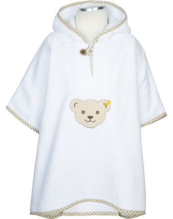 Steiff Bath poncho terry BASIC bright white 000021319-1000