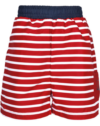 Steiff Swimming shorts /Bermudas CRAB MEETS STRIPES BOY tango red 2014617-4008