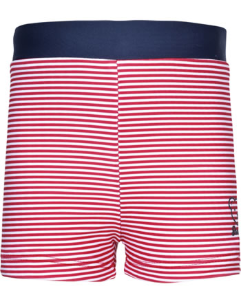Steiff Swimming shorts CRAB MEETS STRIPES BOY tango red 2014607-4008