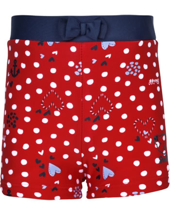 Steiff Swim Shorts NAVY HEARTS GIRL tango red 2014604-4008