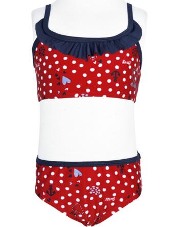 Steiff Bikini NAVY HEARTS tango red 2014608-4008