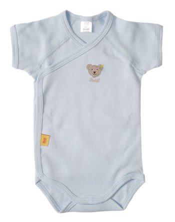 Steiff Wickel-Body Kurzarm BASIC baby blue 0008512-3023