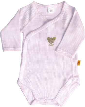 Steiff Wickel-Body Langarm BASIC geringelt barely pink 0008663-2560