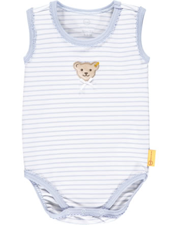 Steiff Body ärmellos HELLO SUMMER Baby Girls brunnera blue 2113403-6043