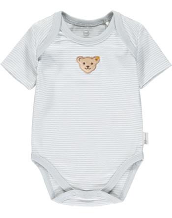 Steiff Body Kurzarm BABY GOTS UNISEX gray dawn 2112503-6064