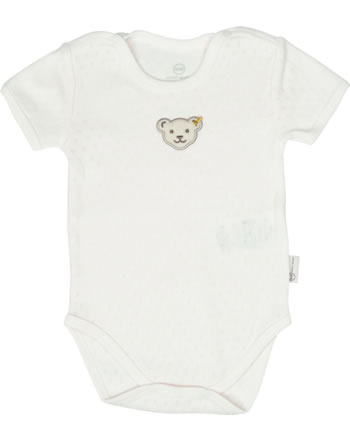 Steiff Body Kurzarm BABY UNISEX ORGANIC cloud dancer 2012307-1001