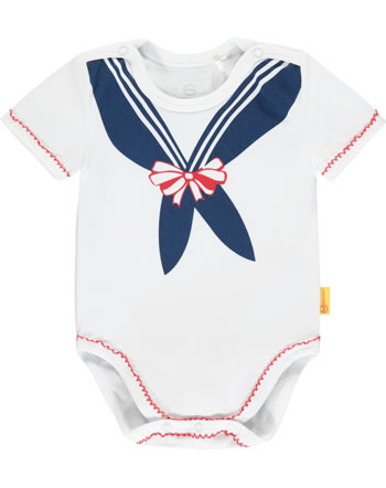Steiff Bodysuit MARINE AIR Baby Girls bright white 2112417-1000