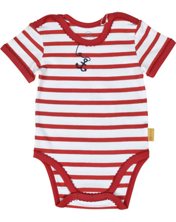 Steiff Body Kurzarm MARINE AIR Baby Girls true red 2112402-4015