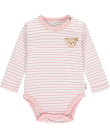 Steiff Body Langarm BABY ORGANIC JUST DOTS silver pink 2122503-3015
