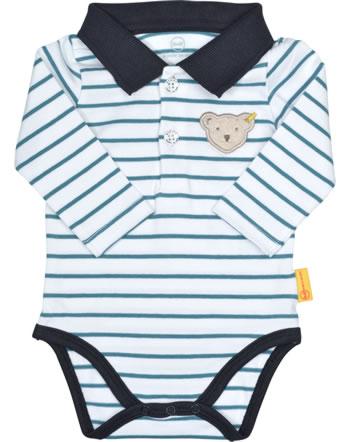 Steiff bodysuit long sleeve BEAR BLUES stripes faience 2011230-6042