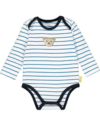 Steiff bodysuit long sleeve BEAR BLUES stripes faience 2011232-6042