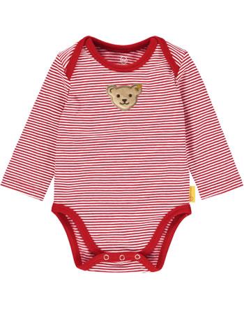 Steiff bodysuit long sleeve BEAR CREW stripes tango red 2012101-4008