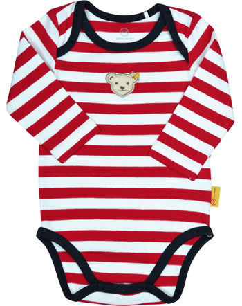 Steiff bodysuit long sleeve BEAR TO SCHOOL tango red 2021320-4008