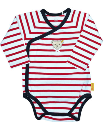 Steiff bodysuit long sleeve BEAR TO SCHOOL tango red 2021436-4008