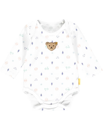Steiff Bodysuit long sleeve HIGH FIVE Baby Boys bright white 2111334-1000