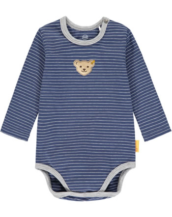 Steiff Bodysuit long sleeve HIGH FIVE Baby Boys deep cobalt 2111332-6062