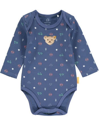 Steiff Bodysuit long sleeve HIGH FIVE Baby Boys deep cobalt 2111334-6062