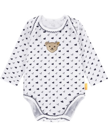 Steiff Bodysuit long sleeve MARINE AIR Baby Girls steiff navy 2112403-3032