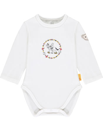 Steiff Bodysuit long sleeve PONYFUL Baby Girls cloud dancer 2022436-1001