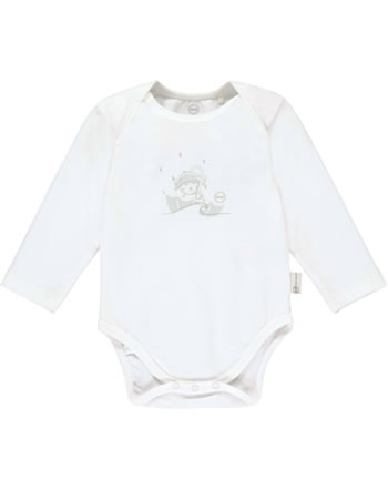 Steiff Bodysuit long sleeve RAINDROPS BABY ORGANIC bright white 2022503-1000