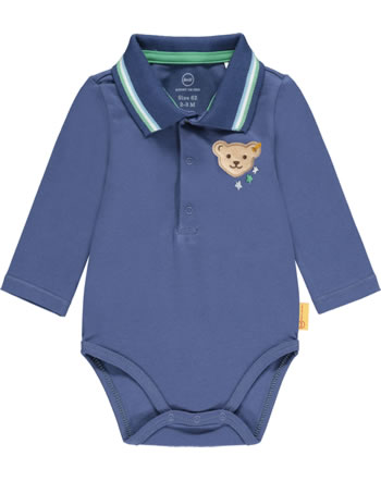 Steiff Bodysuit long sleeve HIGH FIVE deep cobalt 2111330-6062