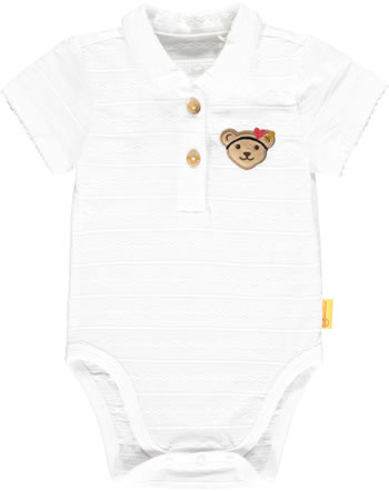 Steiff Body mit Kragen Kurzarm MARINE AIR Baby Girls bright white 2112406-1000