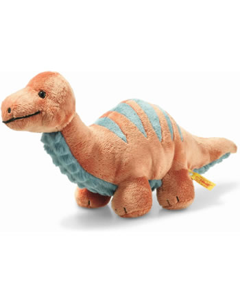 Steiff Brontosaurus Bronko 28 cm dunkelorange/petrol 087837