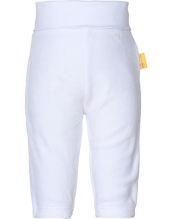 Steiff Bund-Hose Velours BASIC bright white 0021222-1000